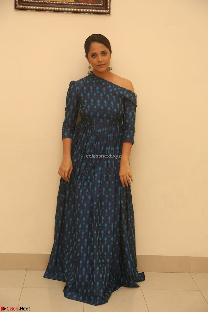 Anchor Anasuya in a Blue Gown at Jai Lava Kusa Trailer Launch ~  Exclusive Celebrities Galleries 001.JPG