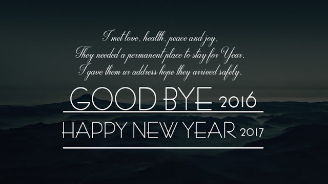 Good Bye 2016 Welcome Happy New Year 2017 Photos