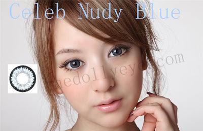 contact lens, celeb nudy blue