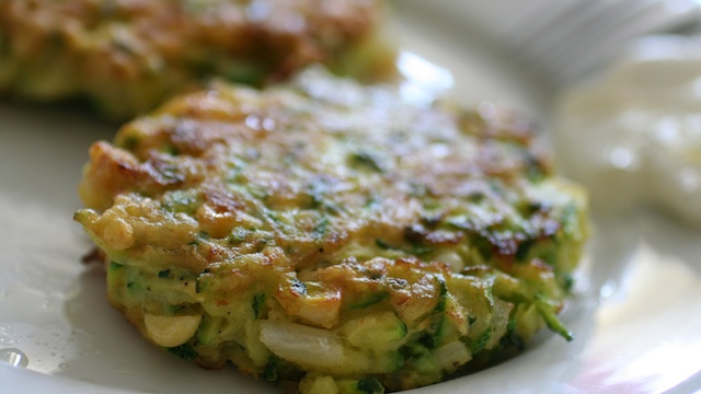 shrimp and zucchini fritters
