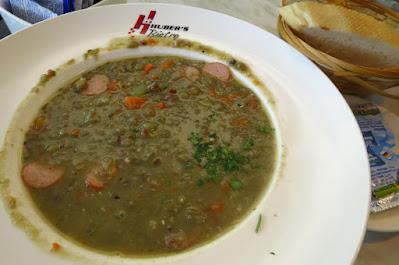 Huber's Bistro, lentil soup