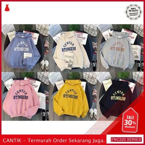 FNC220S59 Sweater Jaket Hodie Center Wanita Stingers Babyterry Serba 50 Ribuan