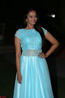 Pujita Ponnada in transparent sky blue dress at Darshakudu pre release ~  Exclusive Celebrities Galleries 124.JPG