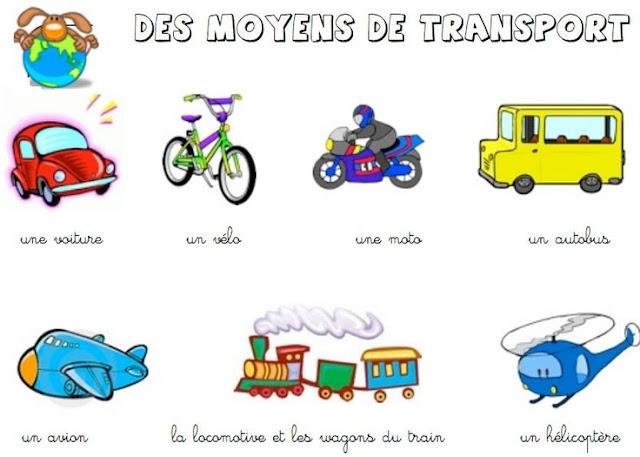 Środki transportu - słownictwo 4 - Francuski przy kawie