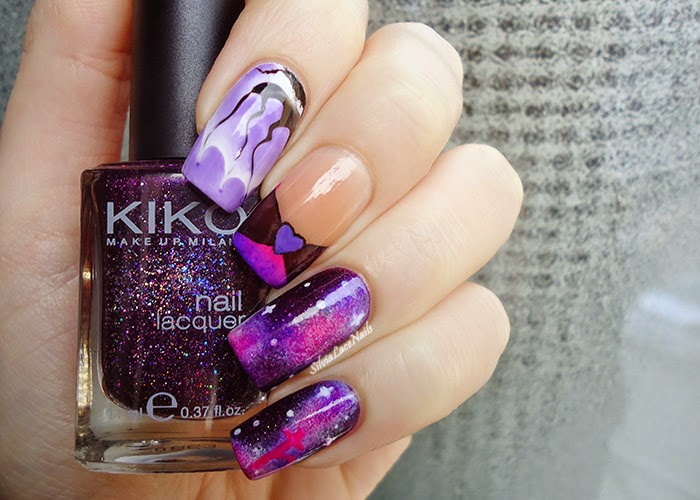 Sailor Saturn nail art
