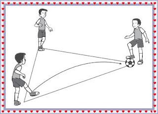 Teknik menendang bola dengan pola segitiga