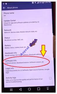 software info - lg g4