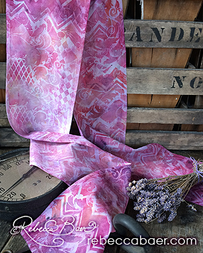 Fabric Painting | Stenciled Scarf | RebeccaBaer.com