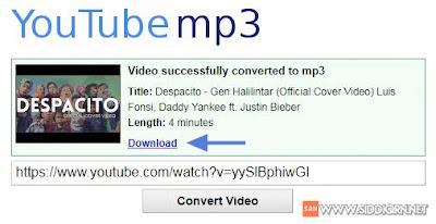 cara download musik dari youtube