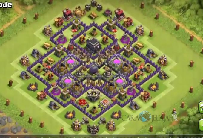 Base Farming TH 9 COC Update Bomb Tower Terbaru 2017 Tipe 19