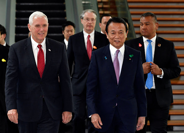 "NEWS | Pence Kicks Off Japan Talks, Both Sides Seek ""New Term"" Results"