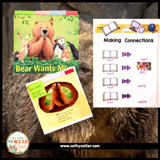 Students can learn to make connections with books and characters to deepen their understanding and love of the characters and stories.
