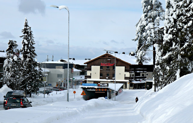 A view of the entrance to Ruka Village Resort