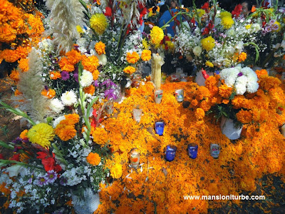 Ofrendas for Day of the Dead in Patzcuaro