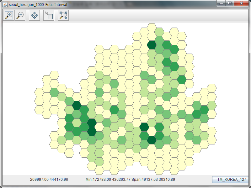 On Spatial: [GeoTools]Graduated Color Renderer 생성
