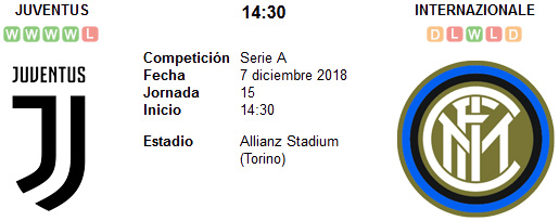 Juventus vs Inter de Milán en VIVO