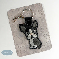Boston Terrier Key Chain, Purse Fob