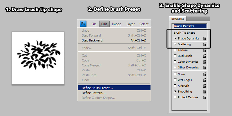 creating custom photoshop brush