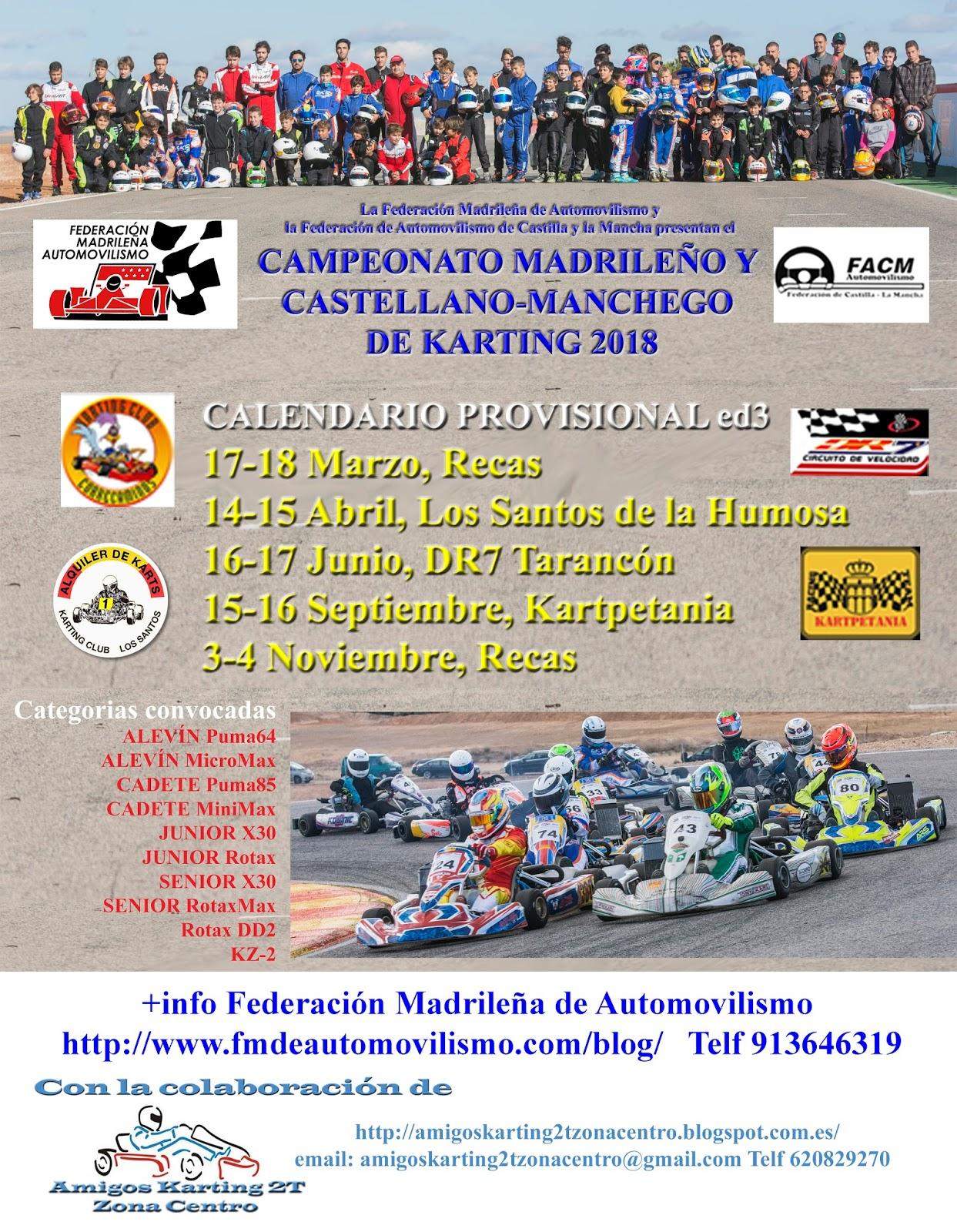 Circuito Karts Santos De La Humosa : Amigos del karting t zona centro noviembre