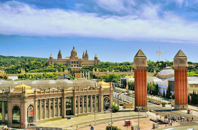 Montjuic em Barcelona