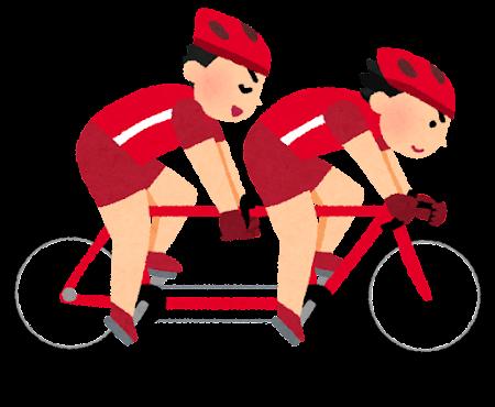 自転車タンデムのイラスト(パラリンピック)v