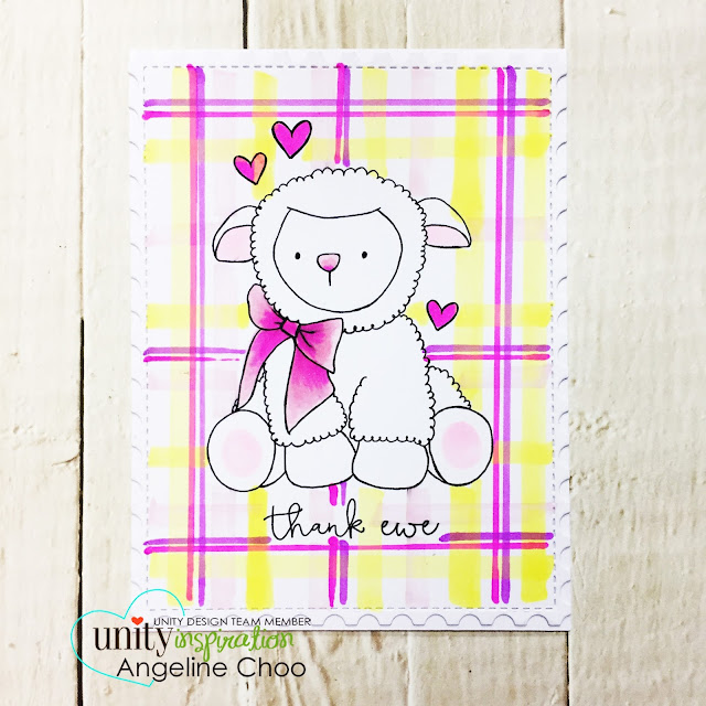 ScrappyScrappy: [NEW VIDEO] My Little Lamb with Unity Stamp #scrappyscrappy #unitystampco #katscrappiness #copicmarkers #plaidpattern #littlelamb #stamp #stamping #craft #crafting #card #cardmaking #youtube #video #quicktipvideo