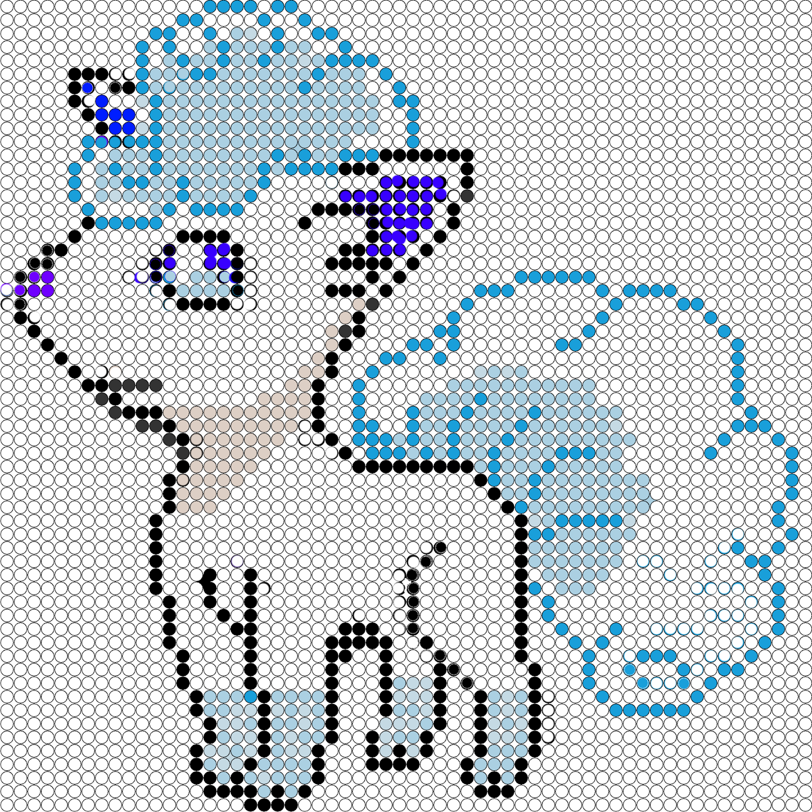 Pixel Art En Perle Hama Goupix Alola En Perles à Repasser