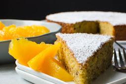 Pistachio Cake with Orange Segments Yummy