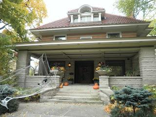 casa di oak park a Halloween