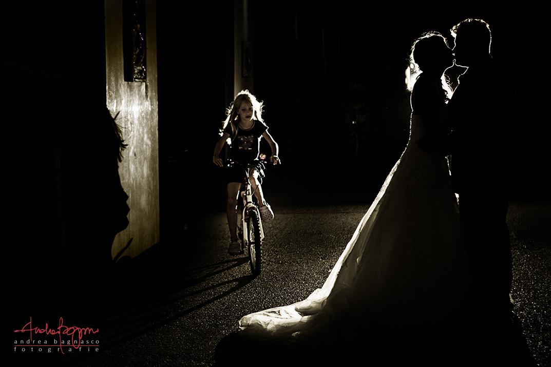 controluce ritratto sposi Varazze