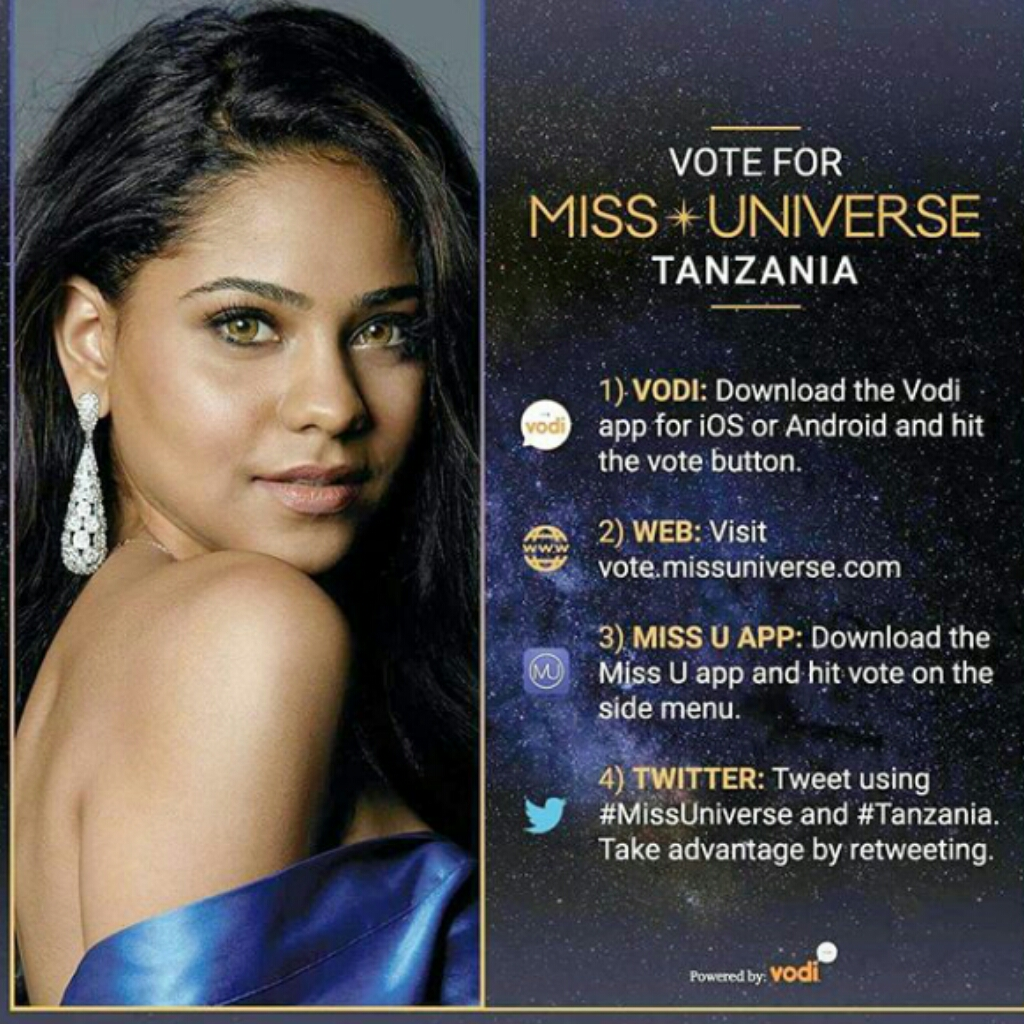 How Much Do You Love Tanzania The Beautiful Miss Universe Tanzania Needs Your Vote Modelsgistafrica