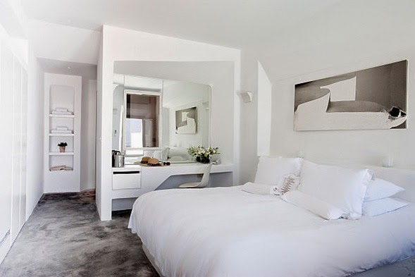 Diseño dormitorio blanco
