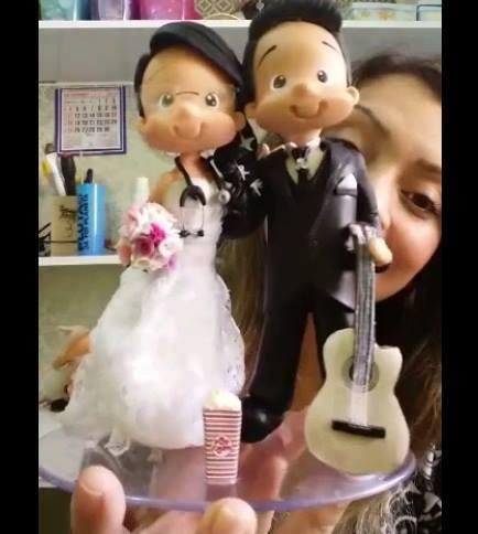 Noiva criativa faça seu topo de bolo