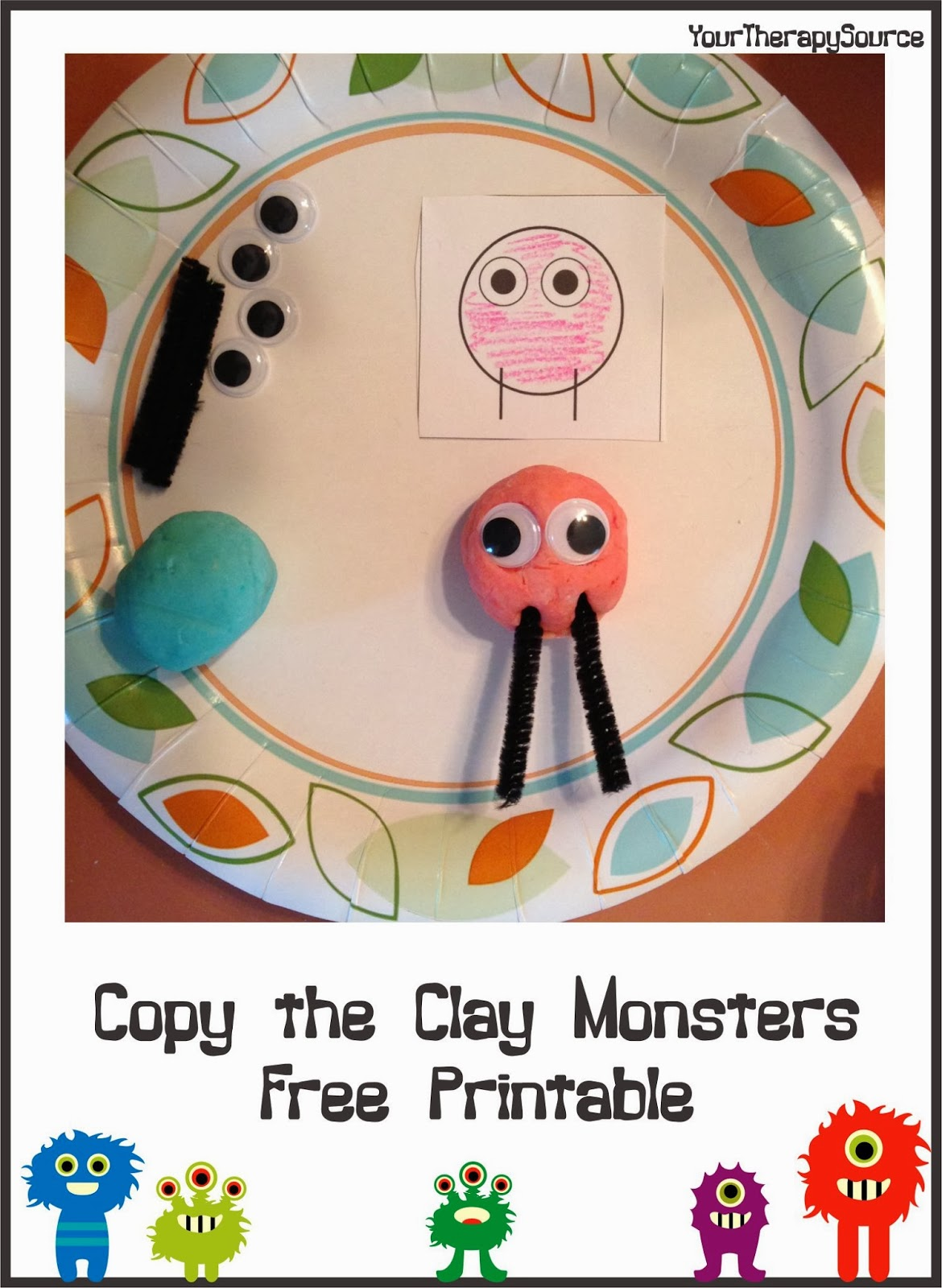 Copy The Clay Monsters Your Therapy Source