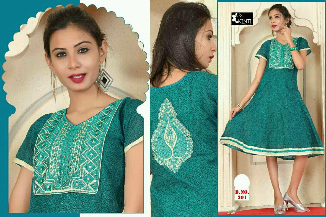 Anamika – Unique Anarkali Embroidery Kurti Buy Online