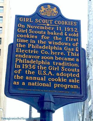 Girl Scout Cookies Historical Marker in Philadelphia Pennsylvania