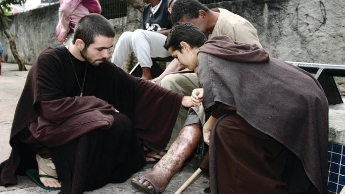 San Francesco e il novizio cappuccino - Anonimo
