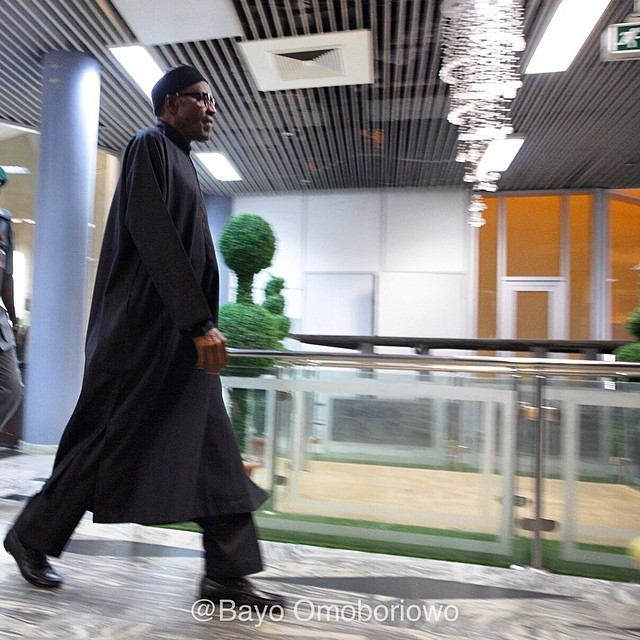 Buhari Arrives Nigeria after 6 day trip to the UK(photos)