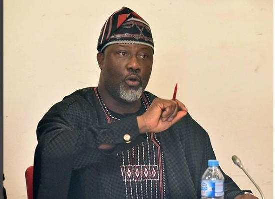 """Adams Oshiomole is suffering from brain arthritis"" Dino Melaye says while reacting to calls for Saraki's resignation"