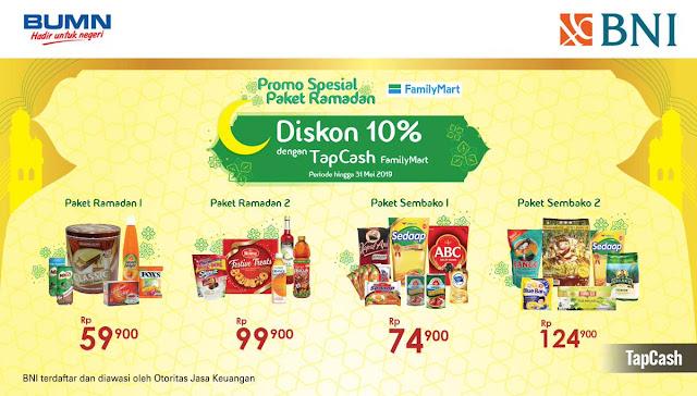 #BankBNI - #Promo Diskon 10% Pembelian Paket Ramadhan di FamilyMart (s.d 31 Mei 2019)