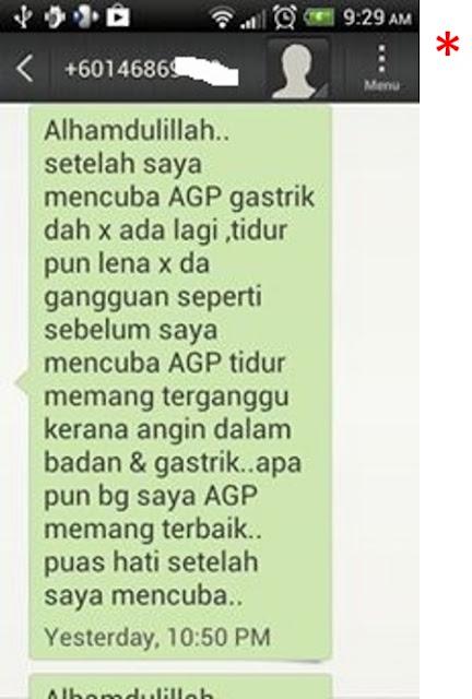 Ubat Gastrik AGP testimoni 5