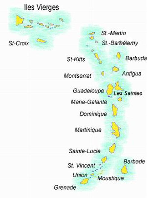 Zoom sur les Antilles