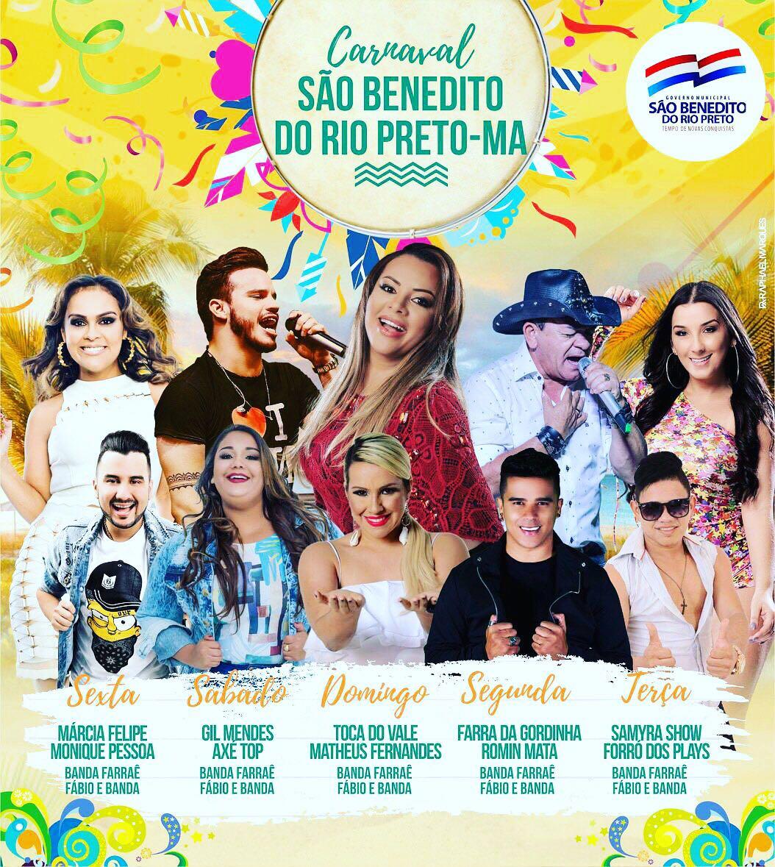 Márcia Fellipe, Toca do Vale, Matheus Fernandes e muito mais no Carnaval de São Benedito do Rio Preto