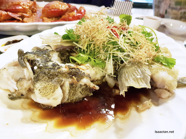 Steamed Marble Goby fish with soy sauce