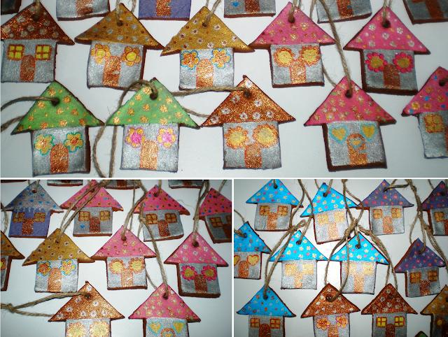 Ornamente de Crăciun din scorțișoară măcinată