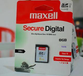 Maxell SDHC Memory Card 8GB Class 10