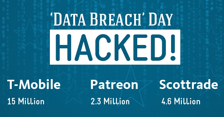Data Breach Day — Patreon (2.3M), T-Mobile (15M) and Scottrade (4.6M) — HACKED!