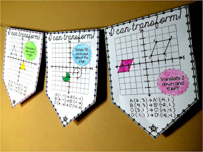 Geometric Transformations math pennant
