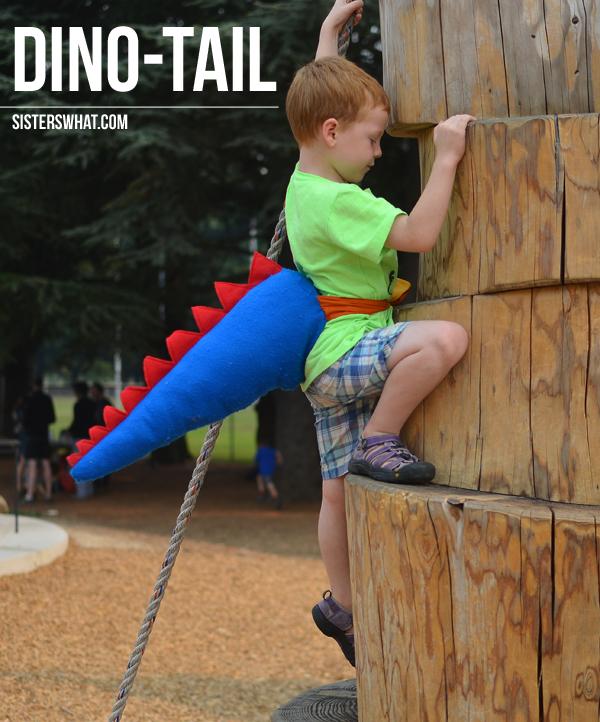DIY dino tails