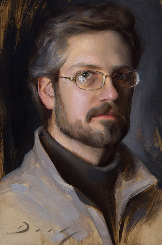 Self Portrait, Joseph Daily, International Art Gallery, Portrait Fine Arts, American Painters
